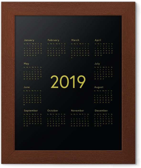 Calendar 2019 - black Framed Poster - Calendars 2019
