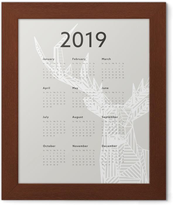 Calendar 2019 - deer Framed Poster - Calendars 2019