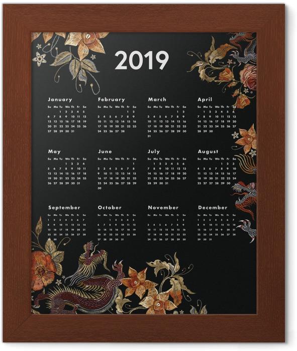 Calendar 2019 - autumn Framed Poster - Calendars 2019