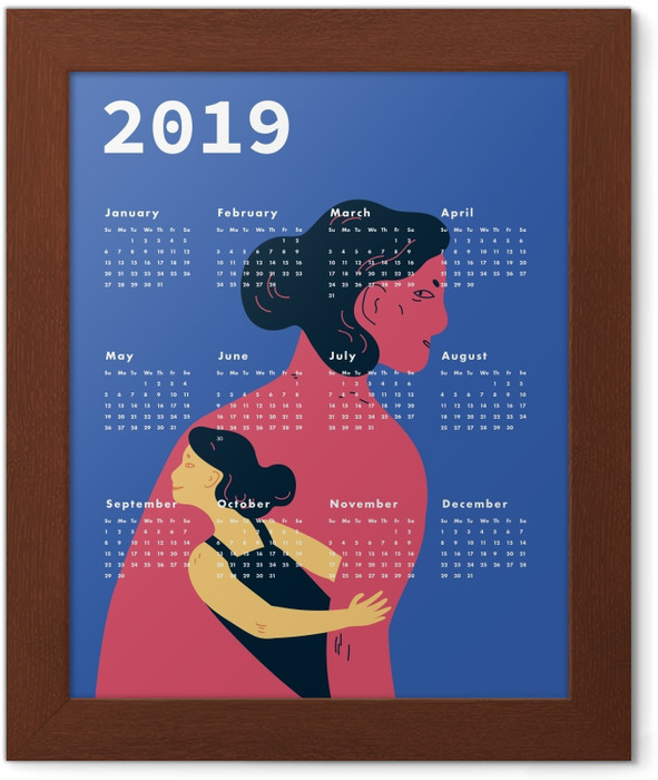 Calendar 2019 - women Framed Poster - Calendars 2019