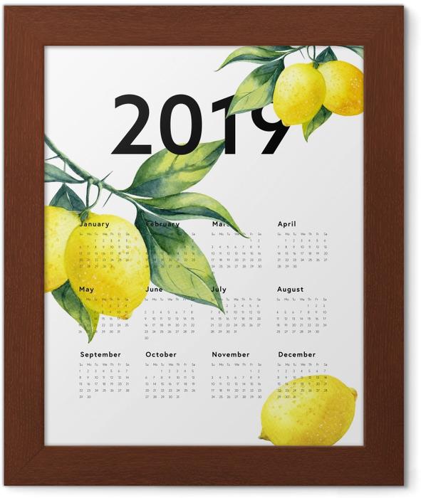Calendar 2019 - lemons Framed Poster - Calendars 2019