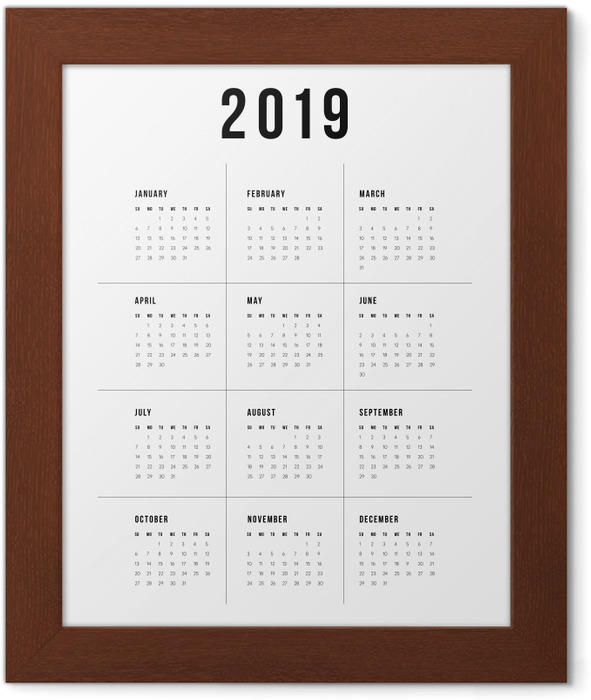 Calendar 2019 - traditional Framed Poster - Calendars 2019