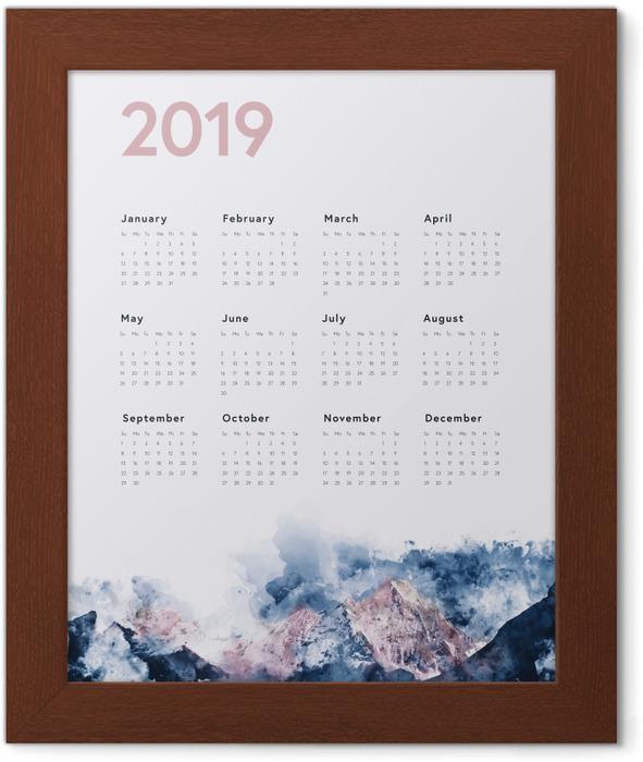 Calendar 2019 - mountains Framed Poster - Calendars 2019