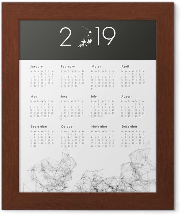 Calendar 2019 - black and white Framed Poster - Calendars 2019