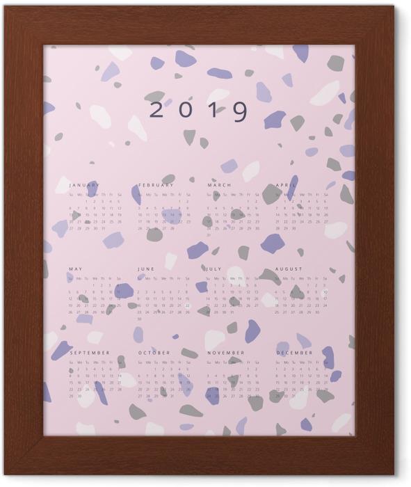 Calendar 2019 - lastryko Framed Poster - Calendars 2019