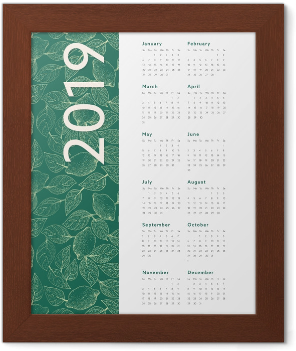 Calendar 2019 – Leaves Framed Poster - Calendars 2019