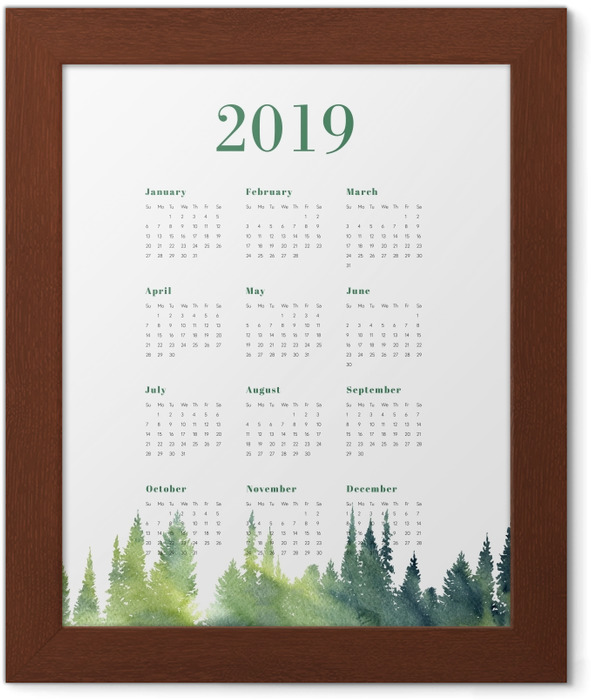 Calendar 2019 – Forest Framed Poster - Calendars 2019