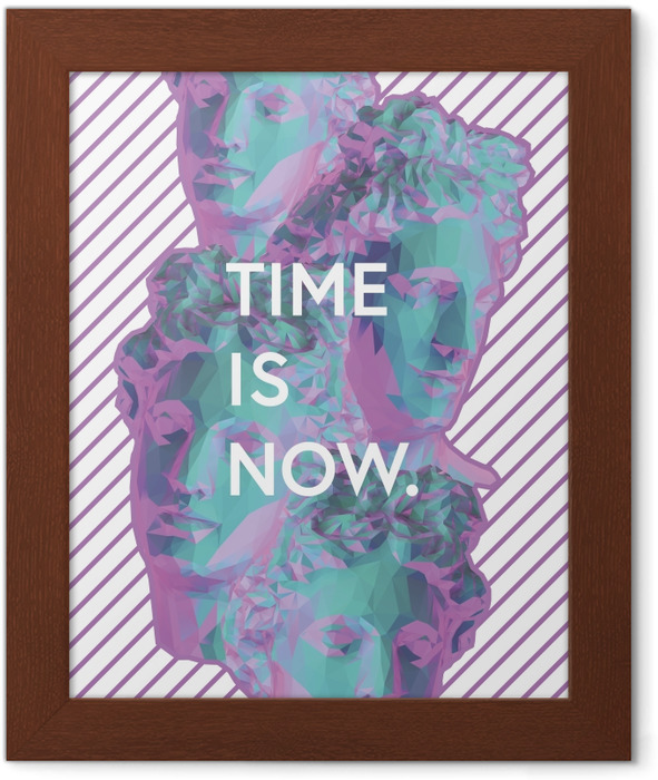 Time is now Framed Poster - Motivations