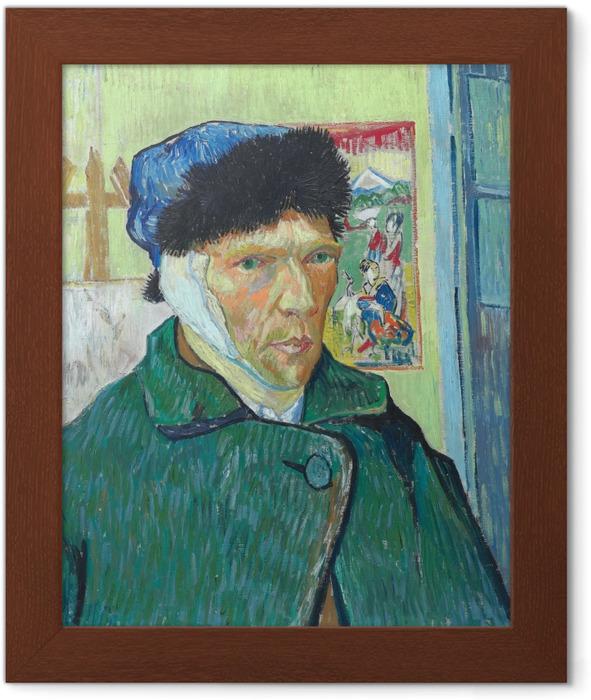 Poster in Cornice Vincent van Gogh - Autoritratto con orecchio bendato - Reproductions