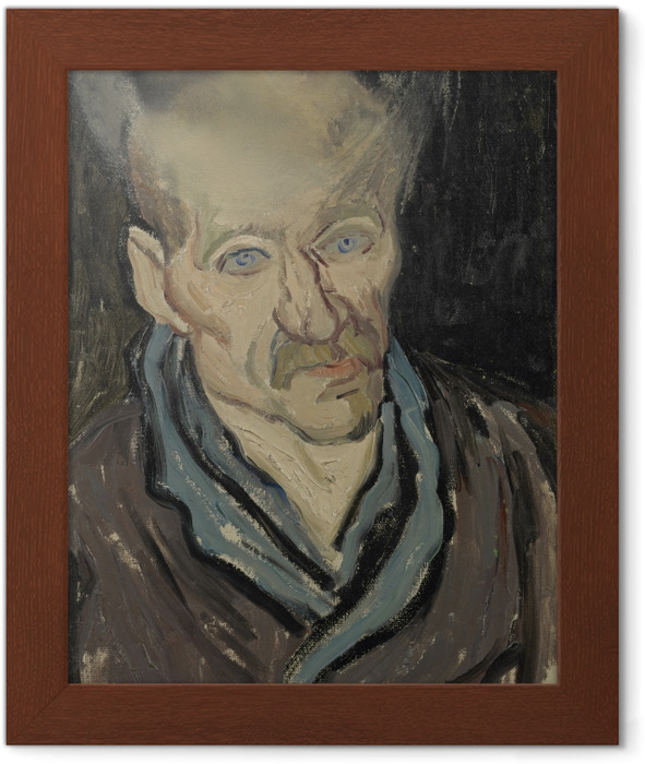 Vincent van Gogh - Portrait of a patient in the hospital Saint-Paul Framed Poster - Reproductions