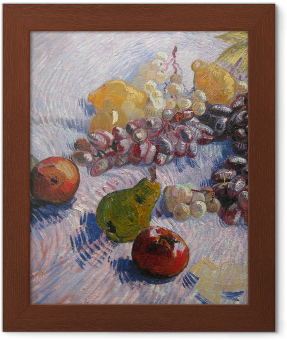 Vincent van Gogh - Grapes, Lemons, Pears and Apples Framed Poster - Reproductions