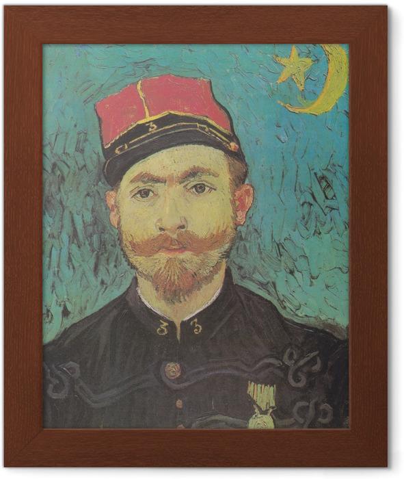 Vincent van Gogh - Portrait of Milliet Framed Poster - Reproductions