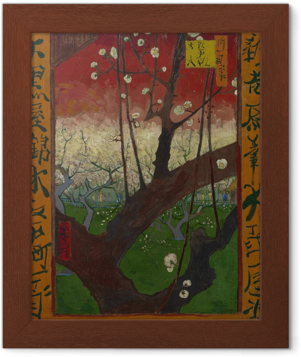 Poster in Cornice Vincent van Gogh - Fioritura Plum Tree - Reproductions