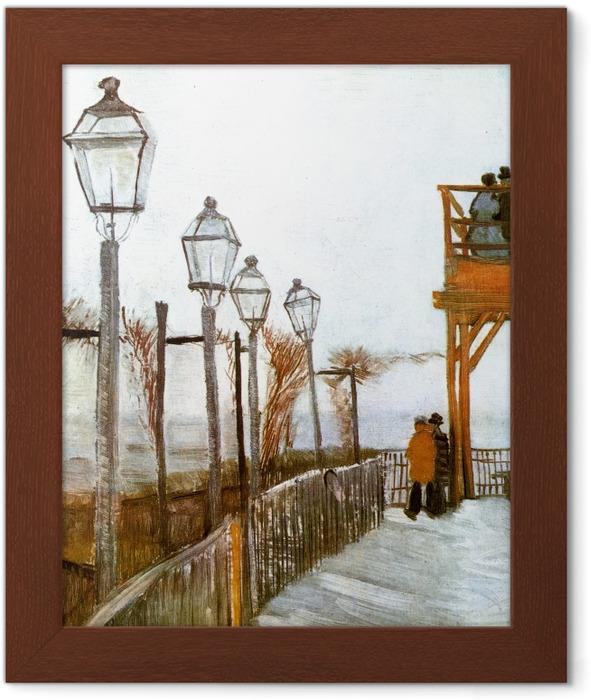 Poster en cadre Vincent van Gogh - Terrasse et Observation Deck au Moulin de Blute-Fin, Montmartre - Reproductions