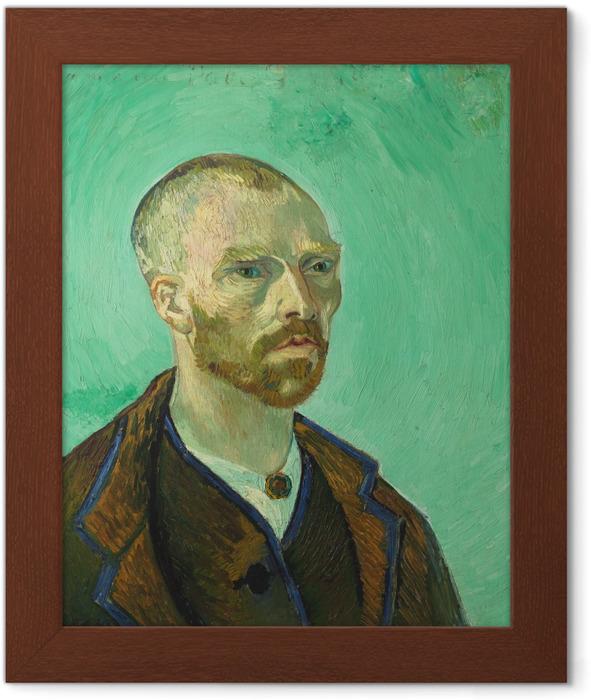 Poster en cadre Vincent van Gogh - Autoportrait dédié à Paul Gauguin - Reproductions