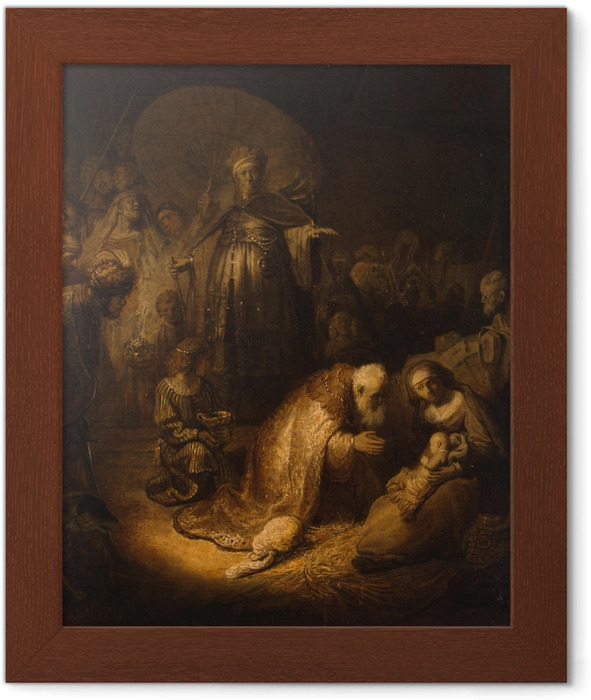 Poster en cadre Rembrandt - Adoration des mages - Reproductions