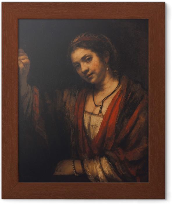 Plakat w ramie Rembrandt - Portret Hendrickje Stoffels - Reprodukcje