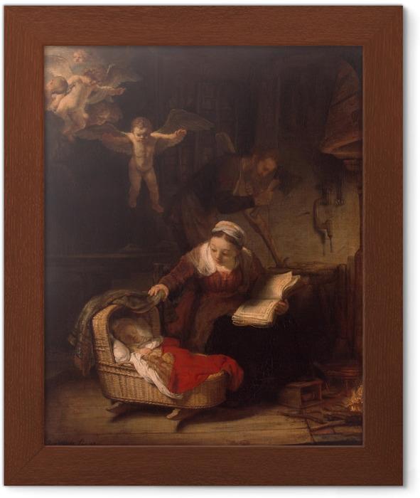Gerahmtes Poster Rembrandt - Die Heilige Familie - Reproduktion