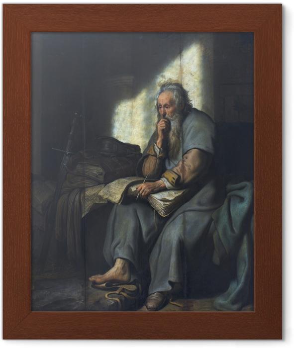 Póster Enmarcado Rembrandt - Paulus en la prisión - Reproducciones