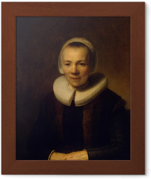 Rembrandt - Portrait of Baertje Martens Framed Poster - Reproductions