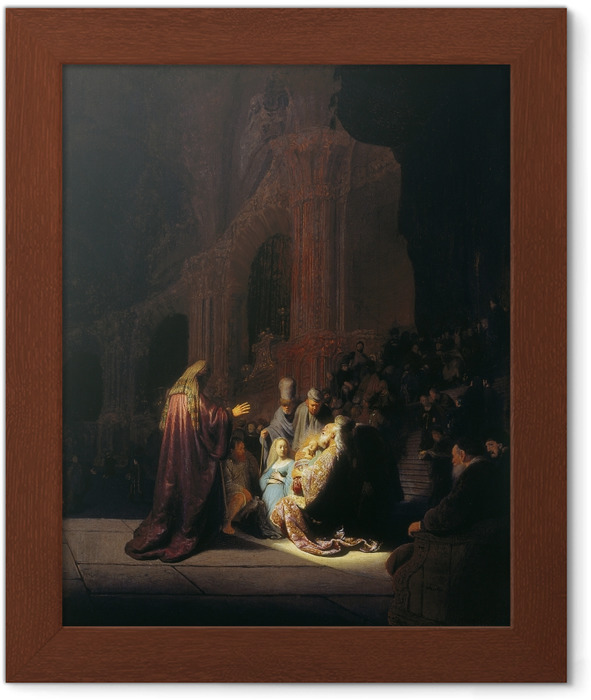 Rembrandt - Simeon in the Temple Framed Poster - Reproductions