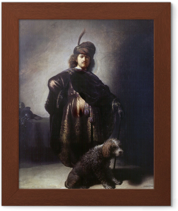 Rembrandt - Self-Portrait in Oriental Costume Framed Poster - Reproductions