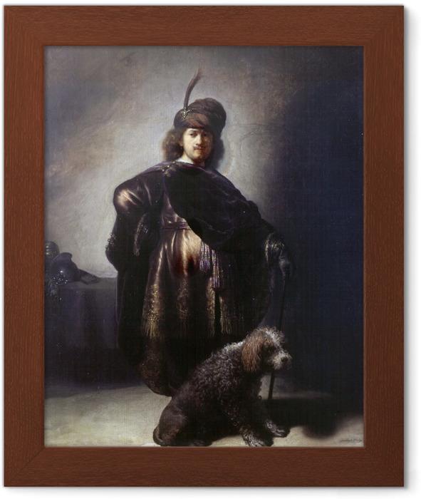 Póster Enmarcado Rembrandt - Autorretrato en el traje oriental - Reproducciones