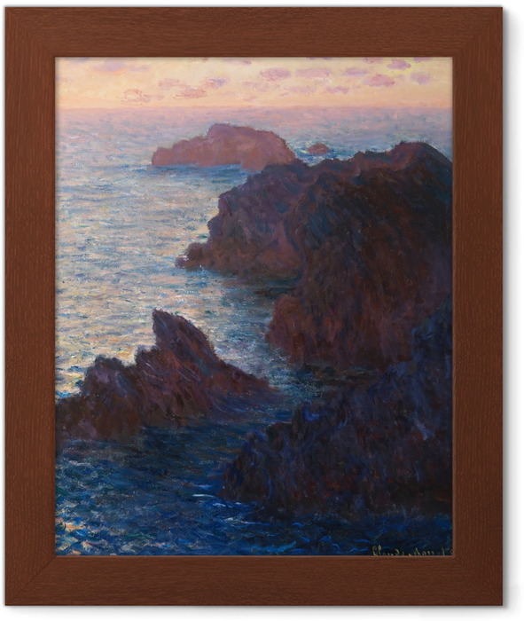 Póster com Moldura Claude Monet - Porto Domois em Belle Ile - Reproduções