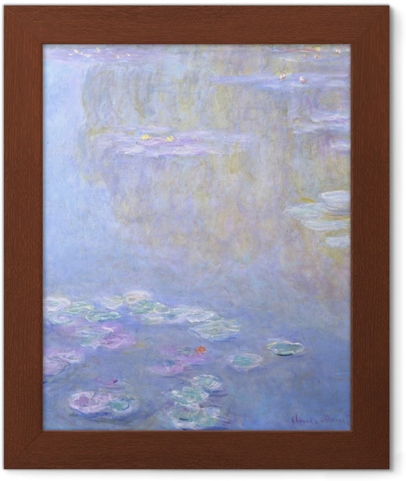 Claude Monet - Nympheas at Giverny Framed Poster - Reproductions