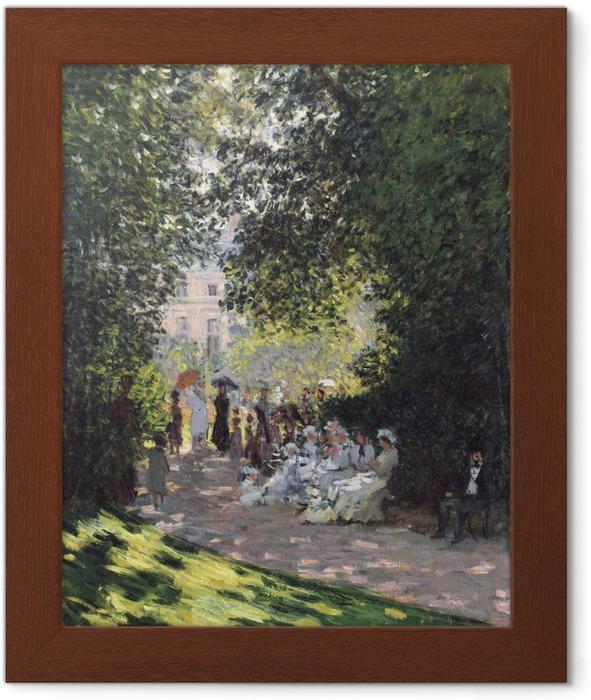 Ingelijste Poster Claude Monet - Het Parc Monceau - Reproducties