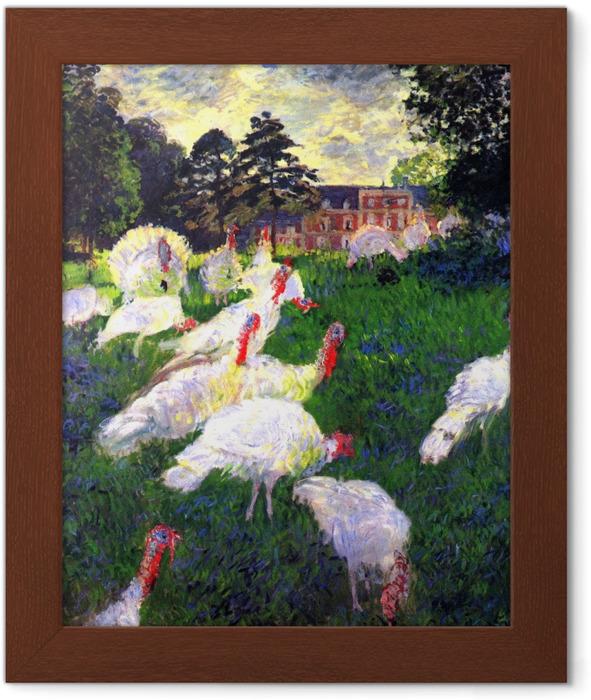 Póster Enmarcado Claude Monet - Los pavos en el castillo de Rottembourg - Reproducciones