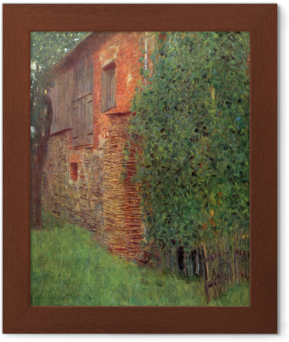 Ingelijste Poster Gustav Klimt - Huis in Kammer - Reproducties