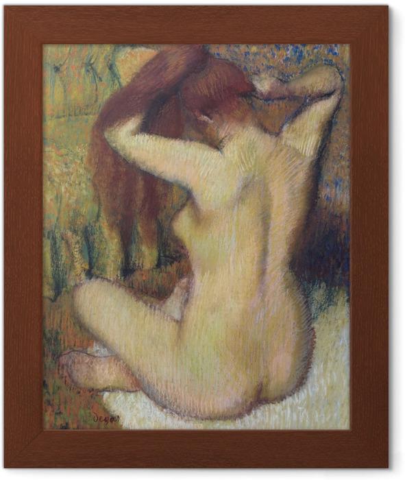 Poster en cadre Edgar Degas - Femme se peignant - Reproductions