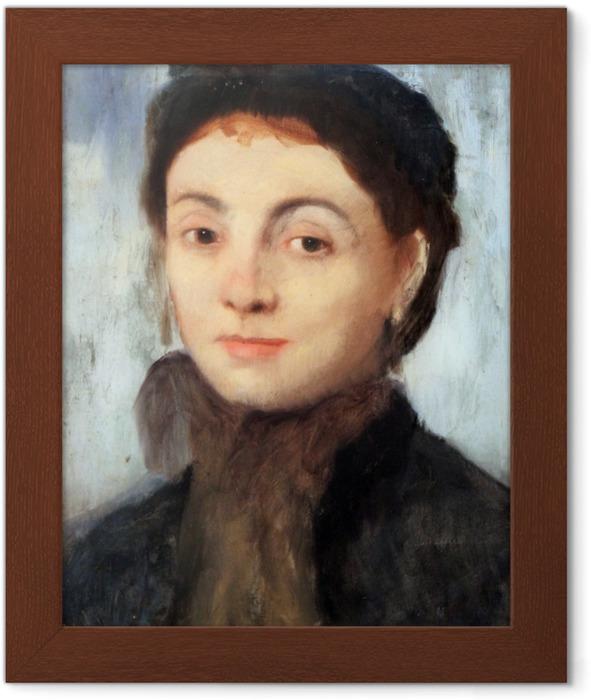 Edgar Degas - Portrait of Josephine Gaujelin Framed Poster - Reproductions