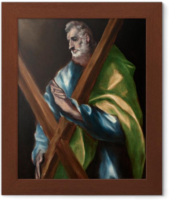 Plakat w ramie El Greco - Święty Andrzej - Reprodukcje