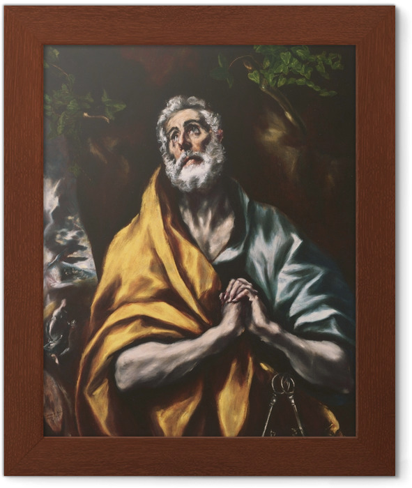 El Greco - The Repentant Peter Framed Poster - Reproductions