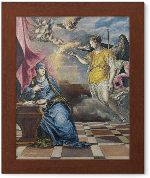 El Greco - The Annunciation Framed Poster - Reproductions
