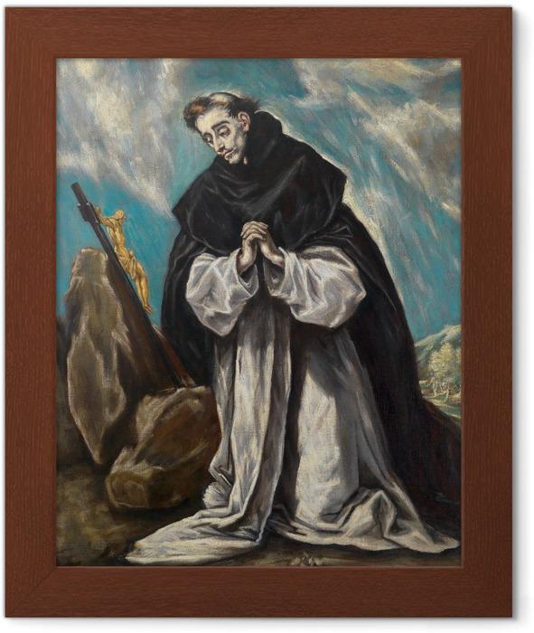 Poster in Cornice El Greco - San Domenico Pregare - Riproduzioni
