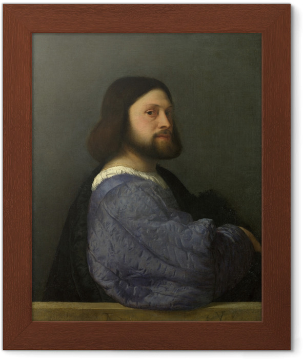 Titian - Portrait of a Man Framed Poster - Reproductions