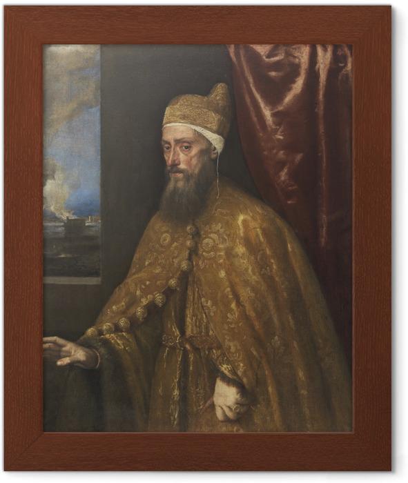 Titian - Portrait of Doge Francesco Venier Framed Poster - Reproductions
