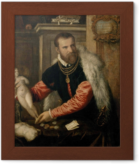 Titian - Jacopo Strada Framed Poster - Reproductions