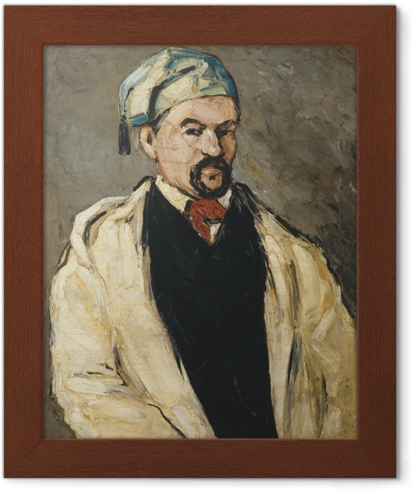 Paul Cézanne - Portrait of a Man in a Blue Cap Framed Poster - Reproductions