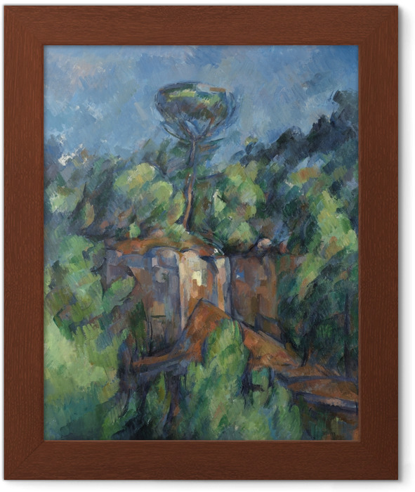 Poster in Cornice Paul Cézanne - Bibémus Cava - Riproduzioni