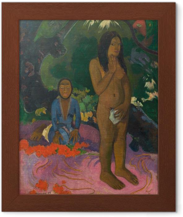 Paul Gauguin - Mahna No Varua Ino (The Devil Speaks) Framed Poster - Reproductions