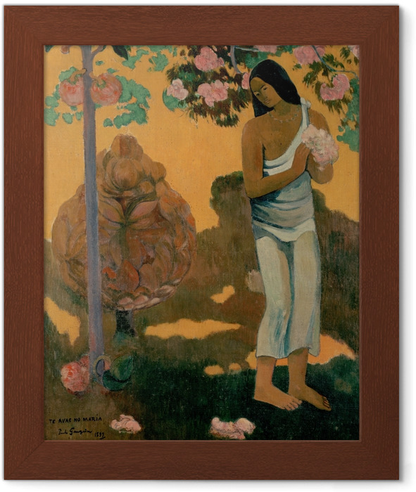 Paul Gauguin - Te avae no Maria (The Month of Mary) Framed Poster - Reproductions