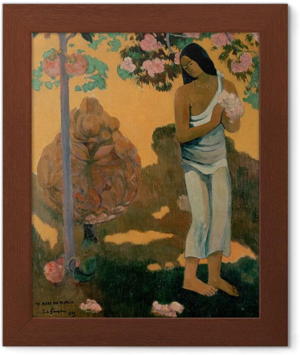 Poster in Cornice Paul Gauguin - Te avae no Maria (il mese di Maria) - Riproduzioni