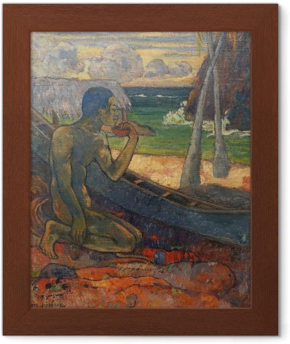 Poster in Cornice Paul Gauguin - Il povero pescatore - Riproduzioni
