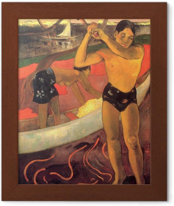 Poster in Cornice Paul Gauguin - L'uomo con l'ascia - Riproduzioni