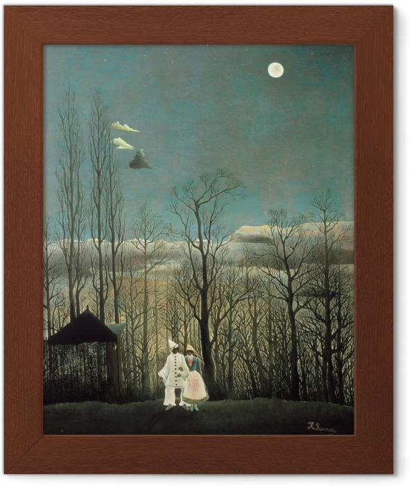 Gerahmtes Poster Henri Rousseau - Eine Karnevalsnacht - Reproduktion