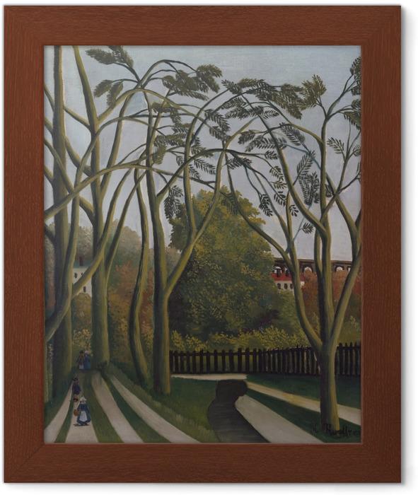 Póster Enmarcado Henri Rousseau - Los bancos del Bièvre cerca Bicêtre - Reproducciones
